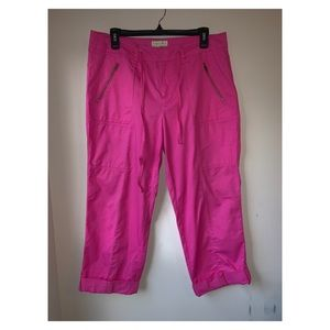 Carribean Joe| cropped cargo cotton pants sz 10